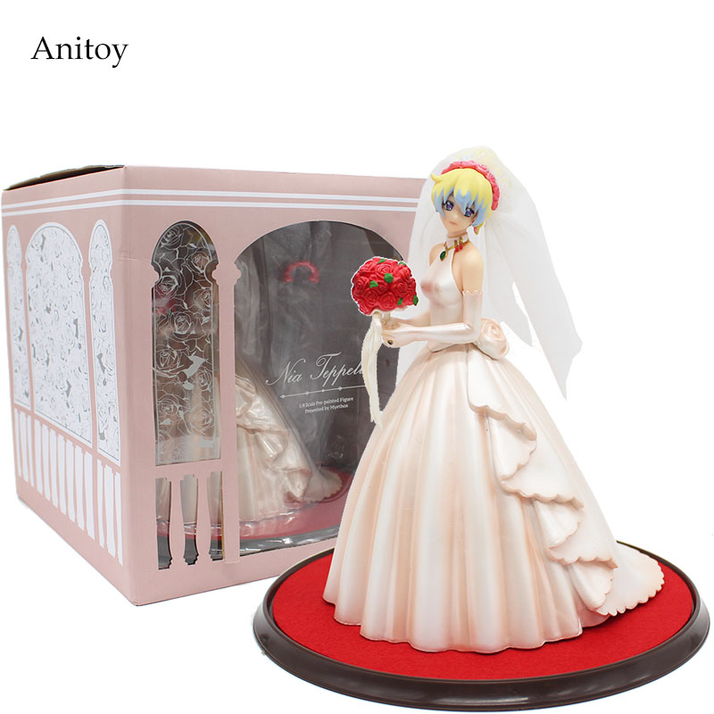 Anime Tengen Toppa Gurren Lagann Action Figure Nia Teppelin Wedding Dress Ver. PVC Figure Collectible Toy 26cm KT4151Anime Tengen Toppa Gurren Lagann Action Figure Nia Teppelin Wedding Dress Ver. PVC Figure Collectible Toy 26cm KT4151