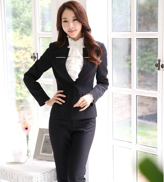Plus Size 4XL Formal Spring Autumn Professional Business Suits Formal Uniform Design Jackets And Pants Female Trousers Sets