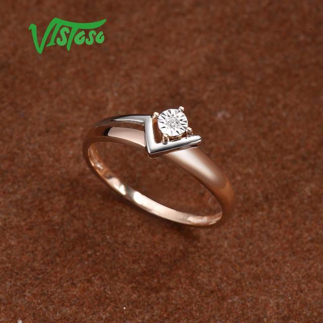 Two-Tone Gold Sparkling Diamond Ring 4