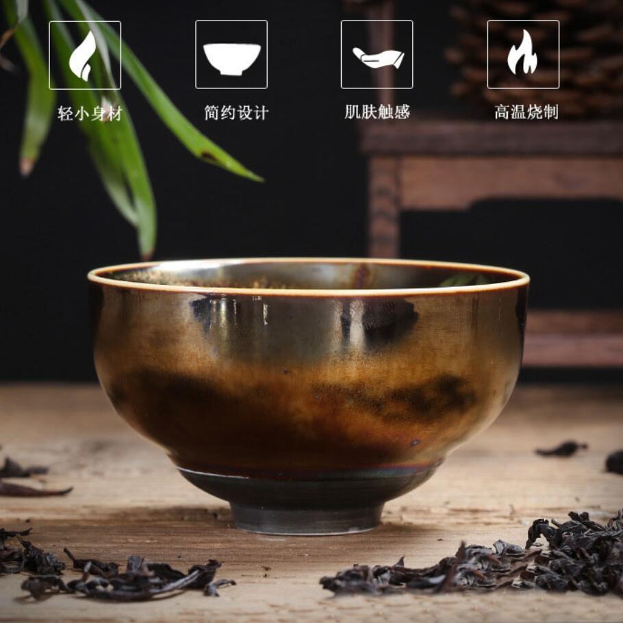 Colorful Temmoku Glaze Teacups 4