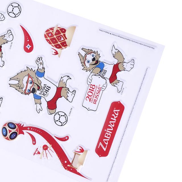 FIFA World Cup 2018 Zabivaka and Russia PVC Bubble Stickers