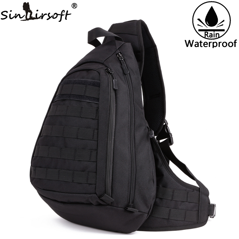 Sinairsoft Tactical Sport Bag Fishing Camping Equipment Outdoor Nylon Wading Chest Pack Bag Sling Single Shoulder