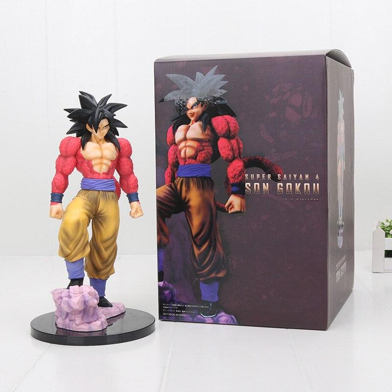 25cm Dragon Ball Z Super Saiyan 4 Son Goku SS4 PVC Action Figure Toy цена