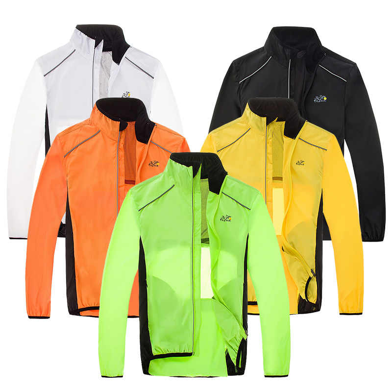 MTB Bicycle Rain Jackets Breathable Reflective Waterproof Cycling Jackets Long Sleeve Men Windproof Outdoor Sports Raincoat