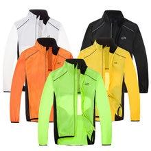MTB Bicycle Rain Jackets Breathable Reflective Waterproof Cycling Jackets Long Sleeve Men Windproof Outdoor Sports Raincoat