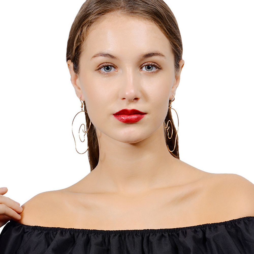 Fashion Exaggerated Geometry Long Earrings Big Hollow Tassel Dangle Earring For Woman Party Jewelry Accessoeise Grils Gift