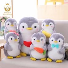 купить 1PCS 25/45cm Creative Hugging Fruit Penguin Plush Stuffed Toys Kawaii Software Couple Penguin Plush Doll Kids Toy Home Decor по цене 449.41 рублей