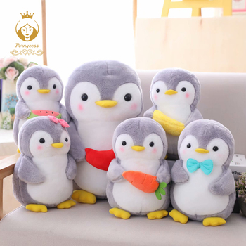 1PCS 25/45cm Creative Hugging Fruit Penguin Plush Stuffed Toys Kawaii Software Couple Penguin Plush Doll Kids Toy Home Decor
