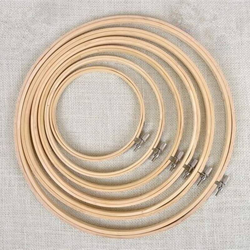 6 sizeset embroidery hoops frame set 17 34cm bamboo wooden embroidery hoop rings for diy cross stitch needlecraft t010 in sewing tools accessory from - Embroidery Frame