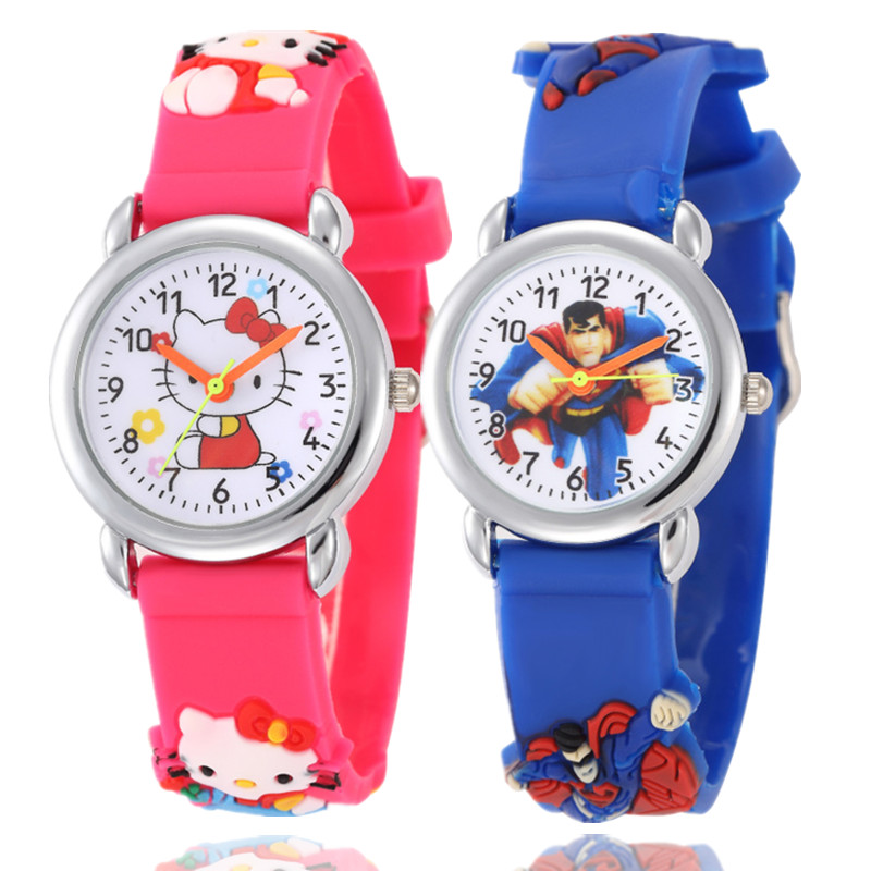 Watches Cute Kids Watch Cartoon-watch Strawberry Lovely Fashion Student Waterproof Wristwatch Red Silicone Band Children Watches Relieving Rheumatism