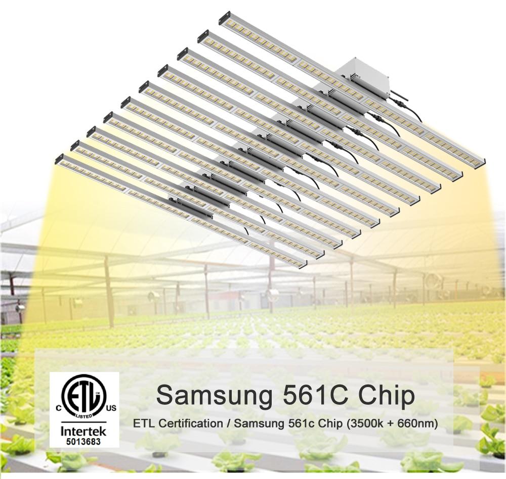 800 W LED croissance lumière spectre complet Samsung 561c croissance phytolamp croissance tente Fitolampy croissance lumière 10 bande Bar pour semis de plantes