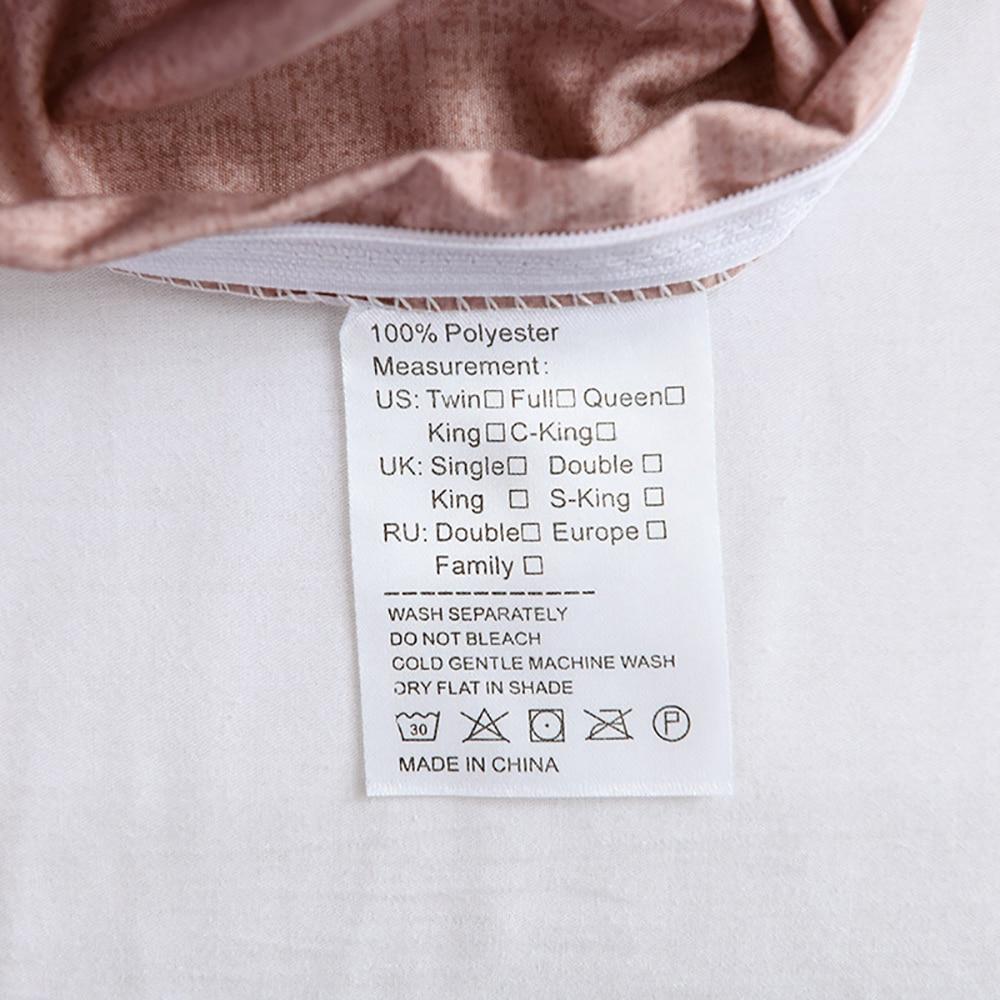Housse de couette de couleur unie avec ses taies d'oreiller