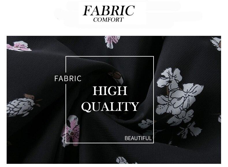 Imprimé En Bowknot Mode Zvaqs St629 Col Longue Floral Slim Soie Mousseline Longues Automne Robe Manches Femmes Robes De 2018 t7twBq1