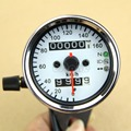 "B86"" Hot Universal Motorcycle Dual Odometer Speedometer Gauge LED Backlight Signal Light"