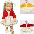 """1 pcs dress for doll  American girl doll dress clothes reborn baby doll clothes for 16"""" or 18"""" 40cm doll dress up"""