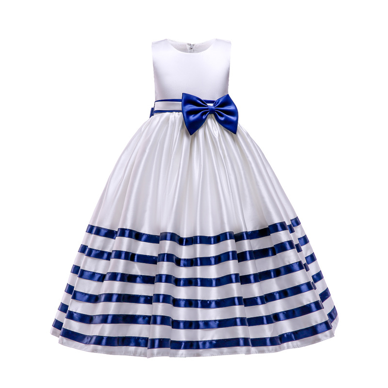Kids Flower Girls Wedding Dress For Girls Party Dress stripe Children Prom Princess Dress Teenage Clothing 5 6 7 8 10 12 YearKids Flower Girls Wedding Dress For Girls Party Dress stripe Children Prom Princess Dress Teenage Clothing 5 6 7 8 10 12 Year