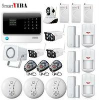 SmartYIBA 8 проводных зон дома офисные охранной сигнализации GSM Wi Fi сигнал + открытый/закрытый сетевых камер + шок Сенсор