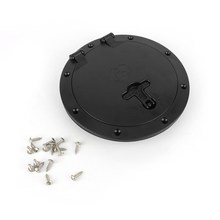 8 Inch Kayak Accessories Marine Boat Deck Plate with Storage Bag Cover Kit Plastic Access Boat Round 8″ Outer Diameter