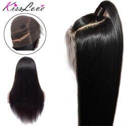 Бразильский 360 синтетический Frontal шнурка волос человеческие волосы Искусственные парики для женщин волосы remy прямой парик с