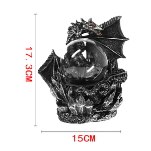 Image 5 - Medieval Dark Dragon Guardian Novelty Desk Lamp Touch Responsive Electric Night Lamp Plasma Ball Statue Magical Light