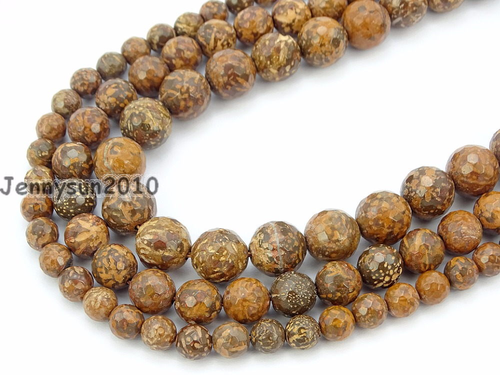 Natural Fireworks Stone Gems Stone Faceted Round Beads 15'' 4mm 6mm 8mm 10mm Strand For Jewelry Making Crafts 5 Strands/pack Good Companions For Children As Well As Adults