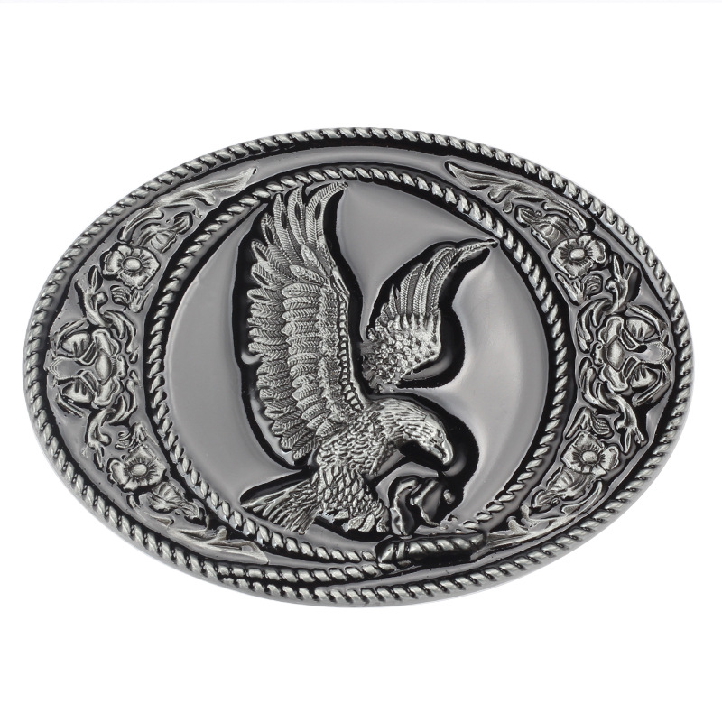 The Eagle Belt Buckle Oval Contracted Point Paint