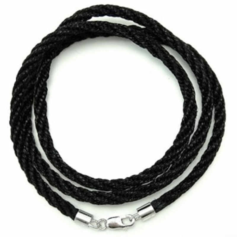18/'/' Brown 2.0mm Round Real Leather Necklace Cord Rope With Clasp Lobster 10Pcs