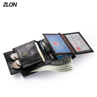 Free Shipping Mens Business Genuine Soft Leather Men S Card Coin Wallet Bank Card Certificate Card