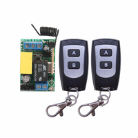 High Quality AC220V RF Wireless Mini Switch Relay Receiver 2x 2CH Remote Controllers
