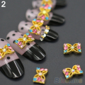 2016 Hot10Pcs 3D Alloy Manicure Glitters Rhinestone DIY Decorations Nail Art Tips Stickers 8LKM