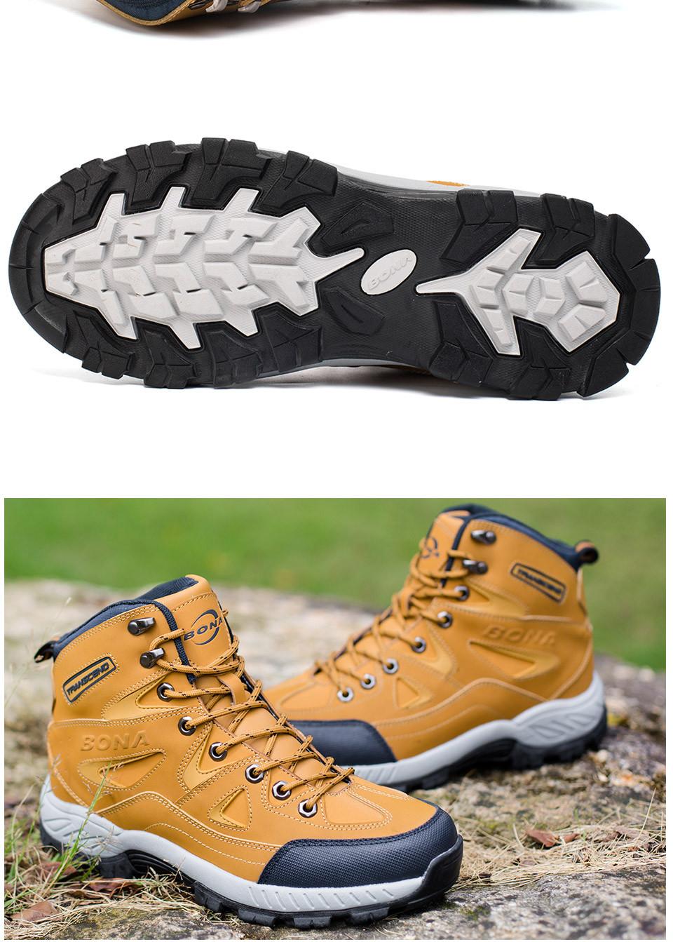 BONA Men Hiking Shoes Anti-Slip 10