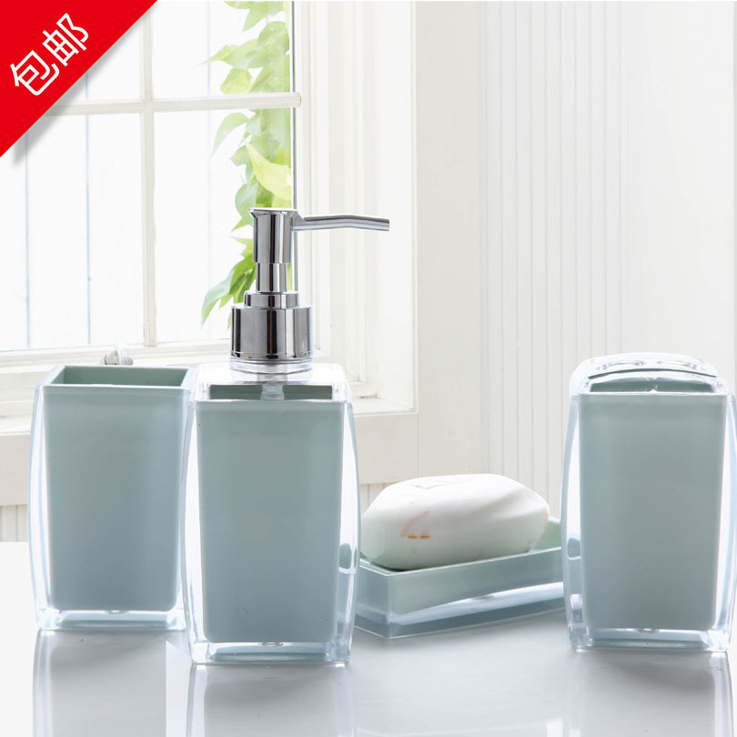 Bathroom Set Bathroom Four Piece Set Fashion Acrylic Bathroom Accessories  Shukoubei Set In Bathroom Accessories Sets From Home U0026 Garden On  Aliexpress.com ...