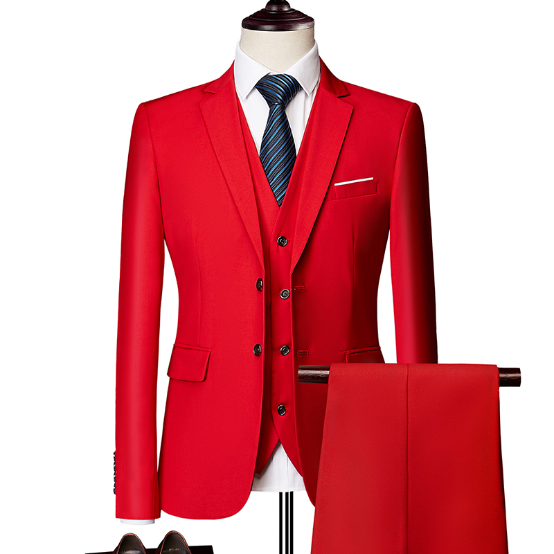 Business Men's Suit 3 Piece Suit Men's Blazer + Vest + Pants Wedding Groomsman Suit Custom Plus Size M-6XL High-end Suits