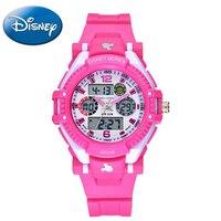 Disney Femme Sport Rose Noir Bleu Montre Enfant De Mode Ronde Numérique Analogique Montres Bande Dessinée Feminino Quartz Mickey 55049 Horloges