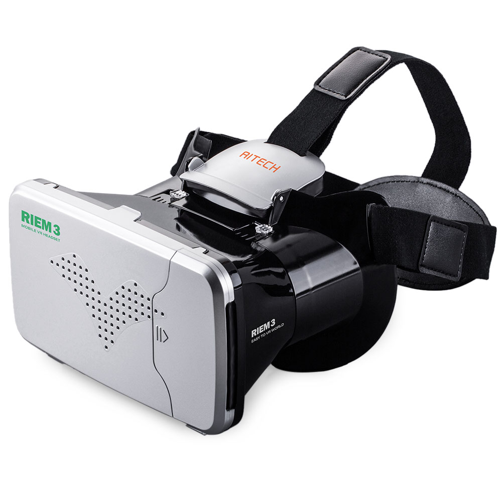 RITECH Riem 3 <font><b>Virtual</b></font> <font><b>Reality</b></font> 3D <font><b>VR</b></font> <font><b>Glasses</b></font> Head Mounted <font><b>Headset</b></font> <font><b>Private</b></font> Theater for 3.5 - 6 inches Smartphone