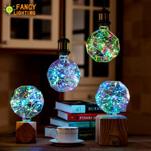 Led bulb E27 Football RGB led lamp 110V 220V Decorative lampada led for home/living room/bedroom/celebration decor 3W led ampul(China)