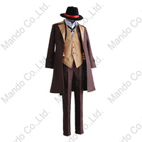 Anime Bungo Stray Dogs Chuya Nakahara Cosplay Costumes Mans Suit Halloween 6pcs Outfit