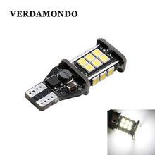 Светодиодная лампа T15 921 912 W16W WY16W 24 SMD 3030, без ошибок CANBUS, стоп-сигнал для автомобиля, для заднего хода, Белый индикатор направления