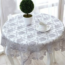 Modern Rose Flower Embroidery Lace Coffee Table Cloth Round Tablecloth Garden Mantel Tapete Christmas Wedding Party Decoration novel circular mesh pattern lace round tablecloth transparent christmas party wedding tea table mat decoration mantel nappe