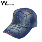 New Arrive Jean Snapback Caps For Women Diamond Cobweb Baseball Cap Rhinestones Cap Summer Style Men Jeans Hats YY60065