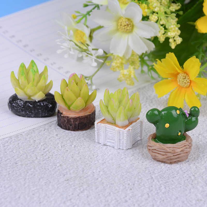 1/4 pçs novo 1:12 casa decoração plantas suculentas mini venda quente miniatura planta verde em pote para decoração de móveis casa de bonecas