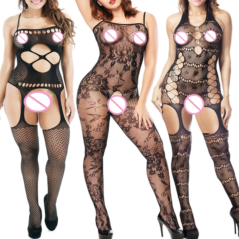 3 Styles Elasticity Sexy Lingerie Hot Mesh Baby <font><b>Doll</b></font> For Women <font><b>Sex</b></font> Costumes Fishnet <font><b>Body</b></font> Stocking Underwear image