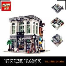 EN STOCK Nuevo LEPIN 15001 2413 Unids Ladrillo Banco Modelo de Construcción Para Niños Bloques Educativos Juguete Ladrillos Compatible Con 10251 Regalo