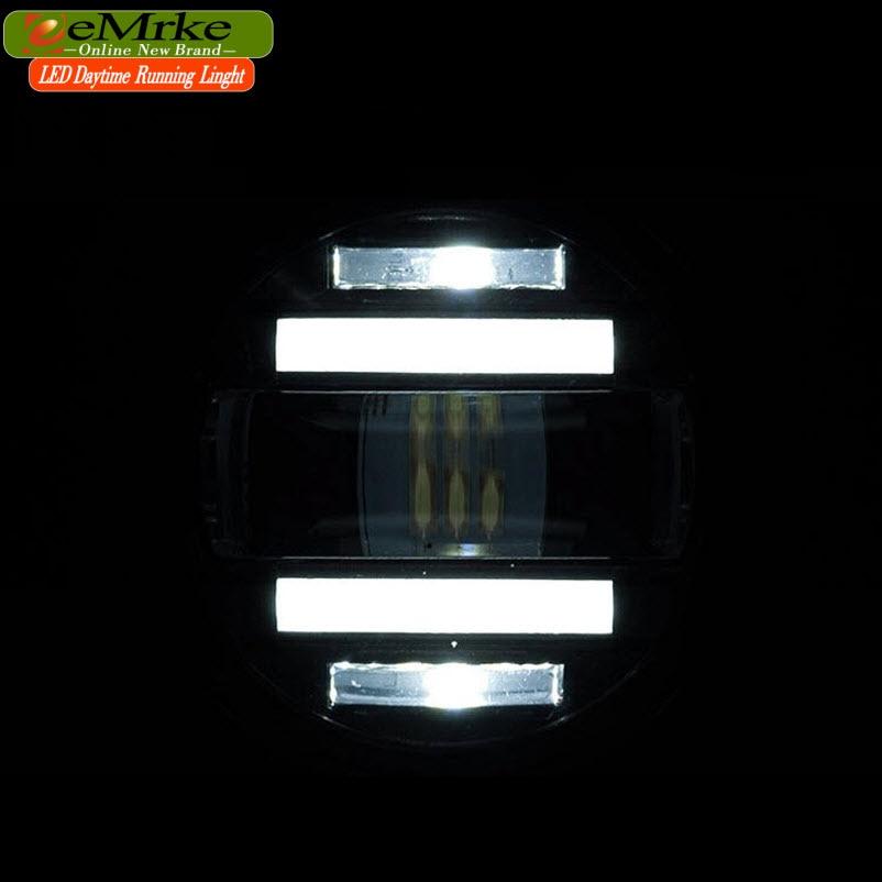eeMrke Xenon Ağ Yüksək Güclü 2in1 LED DRL Projektor Dumanlı - Avtomobil işıqları - Fotoqrafiya 4