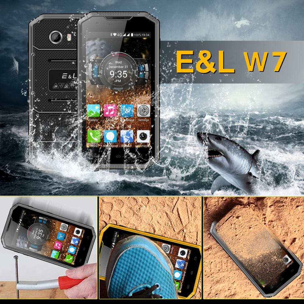 E&L W7 IP68 Waterproof Shockproof Dustproof 4G Smartphone Quad Core 1GB RAM+16GB ROM 2800mAh 8.0MP GPS Dual Sim Mobile Phone