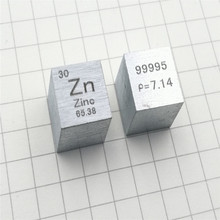 Metal zinc periodic table cube side length 10mm Zn 99.995 zinc cube element rare metal collection Crafts Display rare earths element collection complete 16 in all europium lutetium