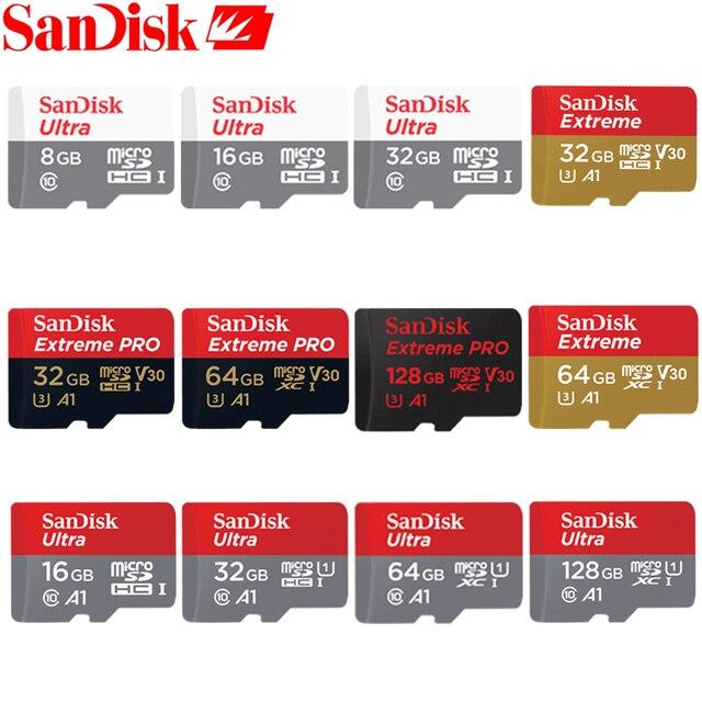 Sandisk 100% Оригинальная карта памяти 64 ГБ 32 ГБ Макс читать Скорость 90 м/с 16 ГБ микро sd карты Class10 UHS-1 flash карты памяти Microsd