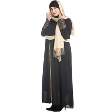 Plus Size Clothing Women Long Sleeve Dress Maxi Abaya