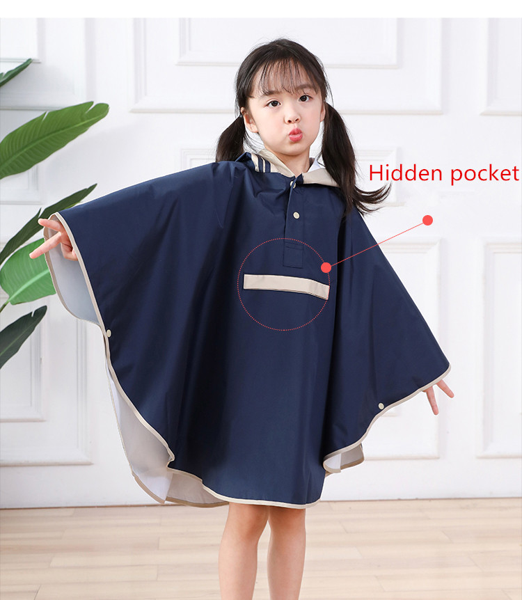 Kids Raincoats For Girls For Waterproof Windproof Rainwear Hat Eaves Design Breathable Comfortable High Quality Poncho Raincoat