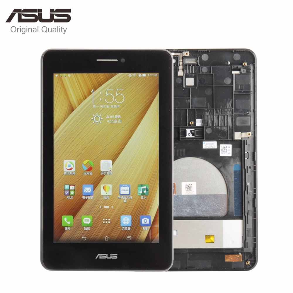 Original Parts For For Asus MeMO Pad HD7 ME175CG ME175 K00Z LCD Display Matric Touch Screen Digitizer Sensor Assembly with Frame new 7 inch for asus memo pad 7 me572cl me572 lcd display digitizer touch screen free shipping